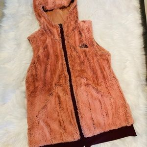 North Face furry vest